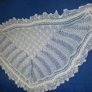2ply evening shawl in cable and lace