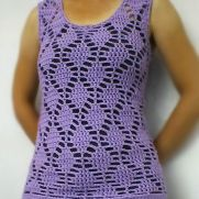 Lilac Diamond Mesh Vest