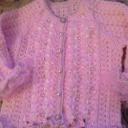 pink sparkle cardigan 6-12mths
