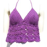 Medium Purple Lacy Halter Top