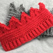Crochet crown ear warmers