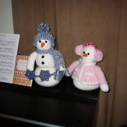 Snowman and snow lady