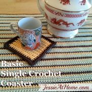 Basic Single Crochet Coaster