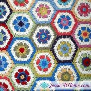 Flower Hexagon Granny How-To