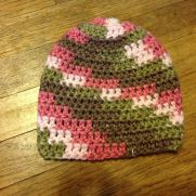 3-6 month pink camo hat