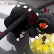 Black Crochet Dragon - La Calabaza de Jack