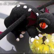 Black Crochet Dragon - La Calabaza de Jack