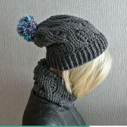 Crochet Infinity Scarf And Crochet Beanie