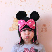 Minnie Mouse Crochet Hat Free Pattern