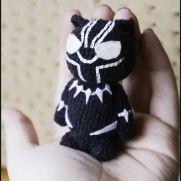 Black Panther Amigurumi - Marvel - La Calabaza de Jack