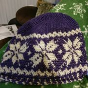 Snowflake Fair Isle Crochet hat