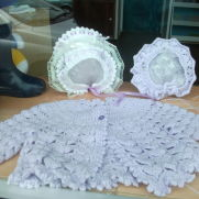 Lilac Matinee Jacket and Hats