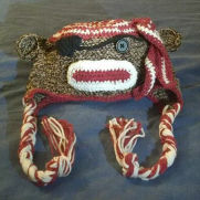 Sock Monkey Pirate Hat