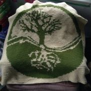 "Tree of Life ""Intarsia"" Afghan"