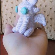 Light fury Amigurumi - How to train your dragon - La Calabaza de Jack