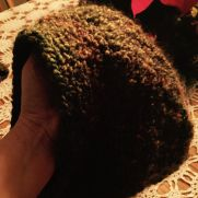Crocheted slightly slouchy hat