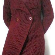 Burgundy Mesh Coat