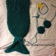 Crochet Mermaid Tail Set