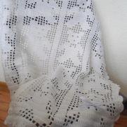 Crochet Baby Blanket, Teddy Bear Blanket, White Crochet Baby Blanket, Christening