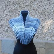 Crochet Neckwarmer, Crochet Mohair Shwal, Crochet Multicolor Shwal, Crochet Spiral Shwal