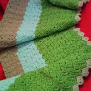 Crochet Slanted Crazy Shell Shawl