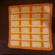 Crochet Plaid Dishcloth
