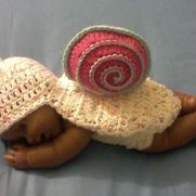 crocheted Newborn Snail photo prop