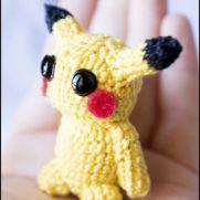 Pikachu Amigurumi - Pokemon - La Calabaza de Jack
