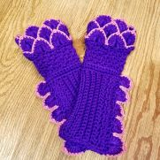 Crochet Dragon Fingerless Gloves