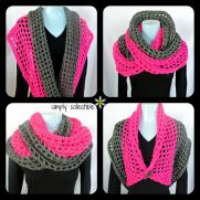Free pattern - Coraline in San Francisco cowl wrap