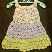 Tiered Crochet Baby Dress