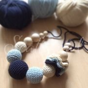 Crochet nursing necklace