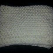 Puff stitch blanket