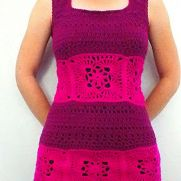 Cranberry and Magenta Summer Vest