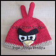 Not So Happy Birds Crochet Hats