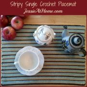 Stripy Single Crochet Placemat