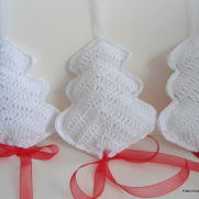Crocheted Christmas Decorations, Сhristmas tree ornaments,New Year Decoration