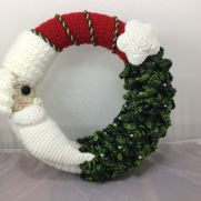 Santa and Christmas tree wreath
