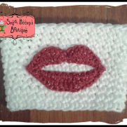 """I Mustache You a Question, Kissy Lips""... Crochet Lips and Mustache Coffee Sleeves"