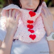 sweetheart fluffy cowl
