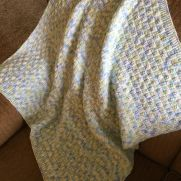 Knitted Basket Weave baby blanket