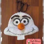 Olaf Crochet Snowman Hat