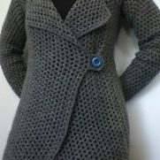 Grey Single Button Cardie