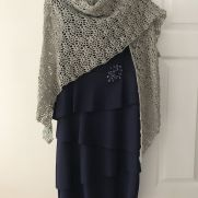 Crocheted pineapple shawl