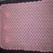 flower trim crochet blanket