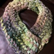 Watercolor Hairpin Lace Scarf