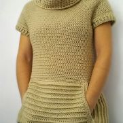 Oatmeal Jumper With Pocket & Cowl