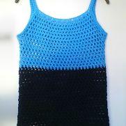 Blue String Vest