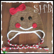 Little Miss Ginger Bread Crochet Hat