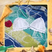 Cotton bikini top